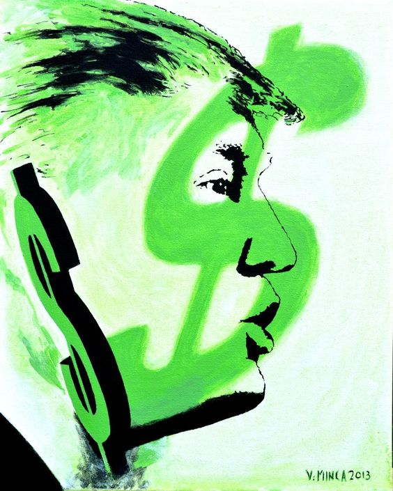 Donald Trump  Original Limited Signed Edition Art Prints are available for $ 35.  www.victorminca.com