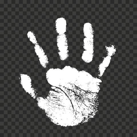 Hd White Stop Handprint Sign Png Png Realistic Signs