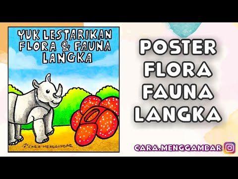 Cara Menggambar Membuat Poster Tema Melestarikan Flora Dan Fauna Langka Yang Mudah Ditiru Ep 240 Youtube Cara Menggambar Poster Gambar