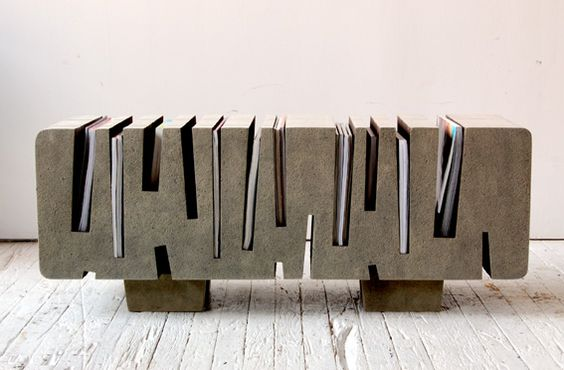 Coffee table made of paper from designer Matt Gagnon.