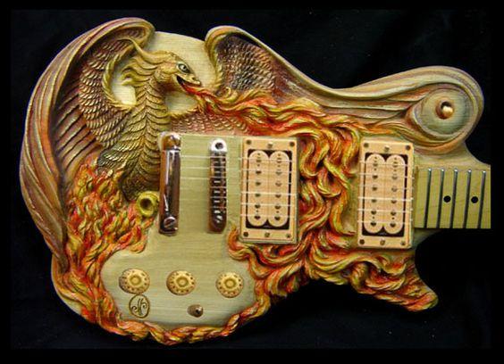 НЕВЕРОЯТНА ръчно резбовани китари: