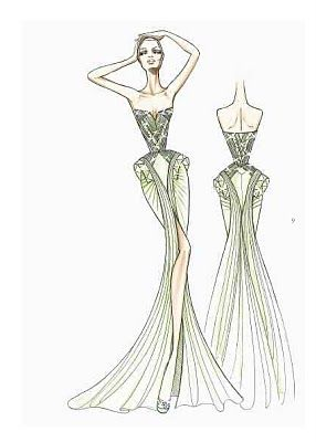 EDITH SAYLOR STYLE: EXCLUSIVE SKETCHES FROM THE VERSACE ...