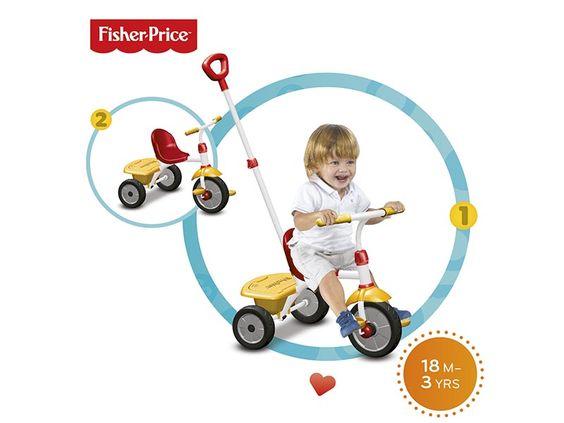 Glee è il triciclo 2 in 1 di Fisher Price, per bambini dai 18 ai 36 mesi. Disponibile in due varianti: giallo/rosso e rosa/violetto. Vieni a scoprire tutte le caratteristiche sul nostro sito! Distribuito in esclusiva da Real Baby Distribuzione!
