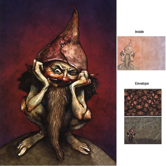 """Brian Froud. He also had a huge hand in the movie """"The Dark Crystal"""", my alltime favorite kids movie. Aww, remember the Mystics?"""