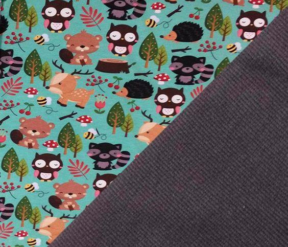 Stoffpakete - Stoffpaket Jersey   Bündchen, Jersey Wald - ein Designerstück von MarieDory bei DaWanda