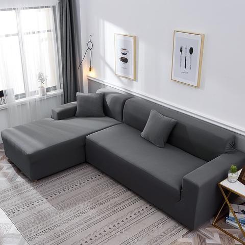 Dark Grey Waterproof Sofa Slipcover In 2020 Sofa Covers Slipcovered Sofa Clean Couch