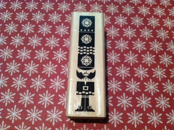 Nut Cracker Toy Soldier Rubber Stamp by Craft by RoyalDescent10, $2.25