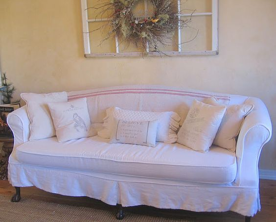 Lovely couch (from Ticking and Toile)
