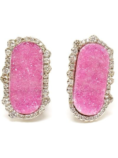 KIMBERLY MCDONALD Cobalto Calcite Irregular Diamond Earrings