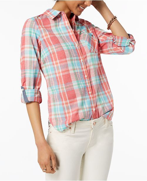 Tommy Hilfiger Plaid Shirt, Created for Macy's Tops