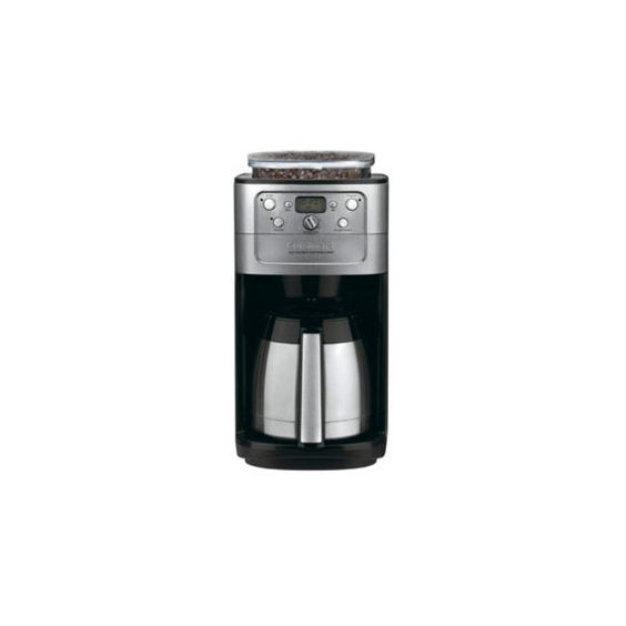 12-c. Burr Grind and Brew Automatic Thermal Coffee Maker featuring polyvore, home, kitchen & dining, small appliances, thermal coffee makers, cuisinart coffee maker, burr grinder coffee maker, coffee brewer and programmable coffeemaker