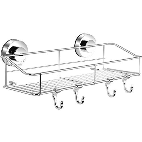 Haundry Suction Cup Shower Caddy Basket Bathroom Corner Shower