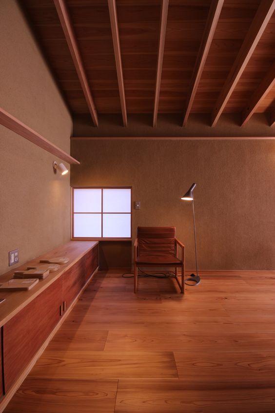 御津の家 木の家 土壁 素材を使った新築 リフォーム フロー建築