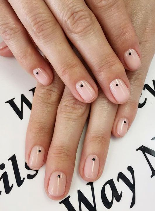 22 Simple Dots Nail Design For Minimalist Women S Minimalist Fashion Dot Nail Designs Dots Nails Minimal Nails