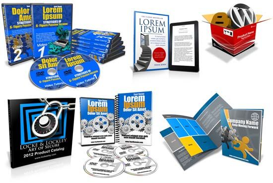 create a BEAUTIFUL eCover bundle of ebook cover, cd, dvd, box by ecover3dmaster