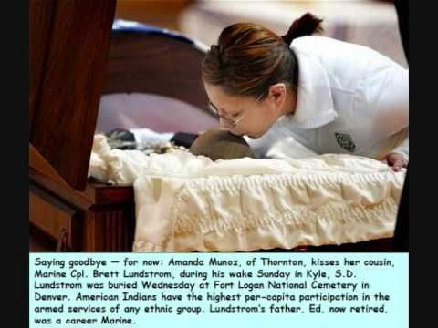Marine Cpl. Brett Lundstrom's funeral