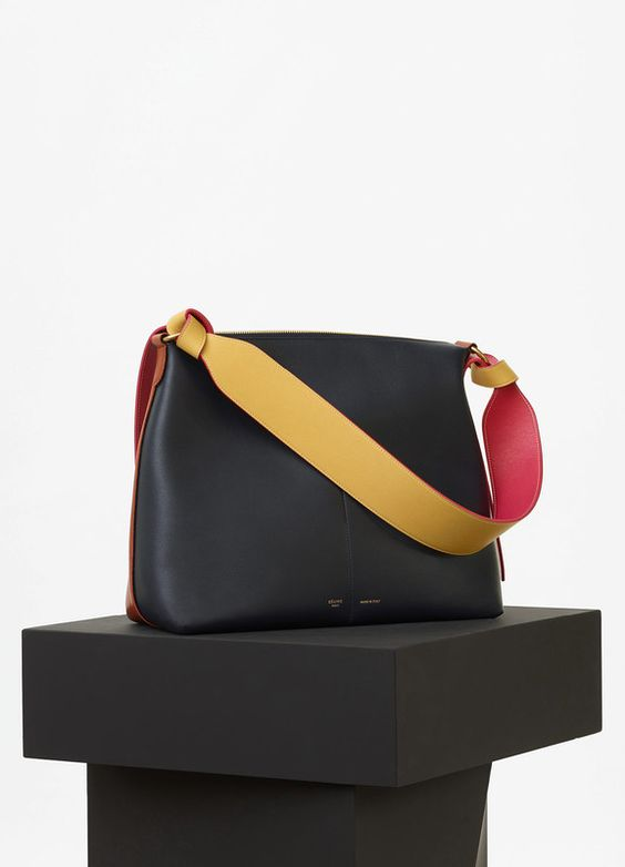 celine bags cabas lambskin hot red black cheap style