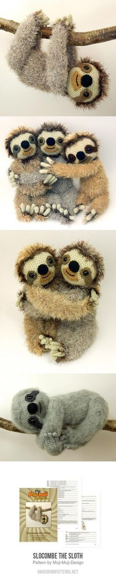 Slocombe the Sloth amigurumi pattern by Janine Holmes at ...