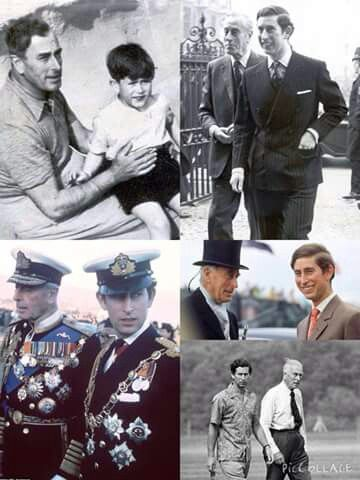 Photographs of Prince Charles and his 'honorary grandfather' Lord Louis Mountbatten through the years.