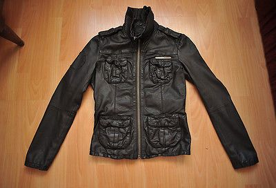 Womens SuperDry Leather Jacket in Brown size XS https://t.co/bOP2sS3ZYC https://t.co/H24tdy7QlS