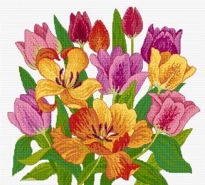 Tulips Cross Stitch