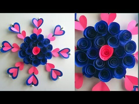Simple And Beautiful Paper Flower Wall Hanging Diy Paper Flower Wall Hanging Easy Home Decor Y Diy Paper Flower Wall Hanging Flower Wall Wall Hanging Diy