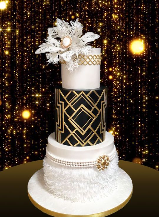 The Great Gatsby Wedding Cake Gatsby Gatsby Birthday Party