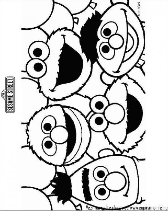 Free Printable Sesame Street Birthday Coloring Pages Pics