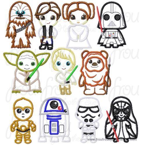 Freezing Cutie Little Princesses Five Design Set Machine Applique
