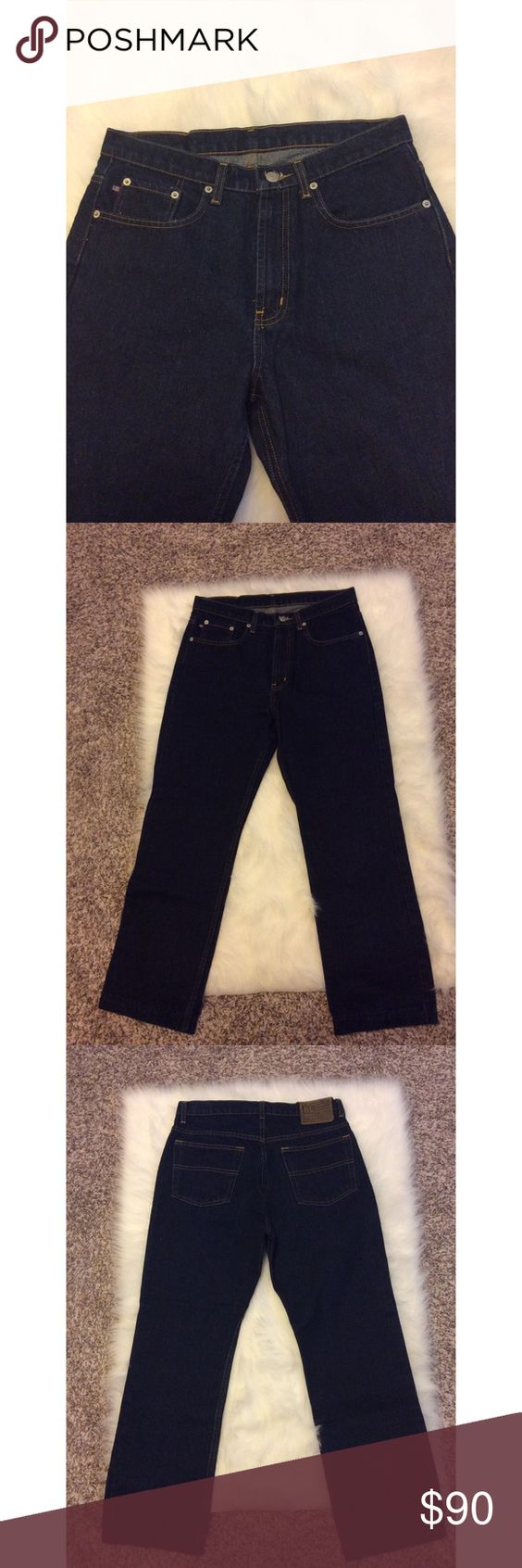 Polo Ralph Lauren Jeans ✨condition: brand new w/o tags ✨worn? no ✨style: 67 bootcut jean ✨color: dark wash ✨rise: classic ✨material: 100% cotton ✨women's size 10 ✨measurements: inseam: 27 Polo by Ralph Lauren Jeans Boot Cut