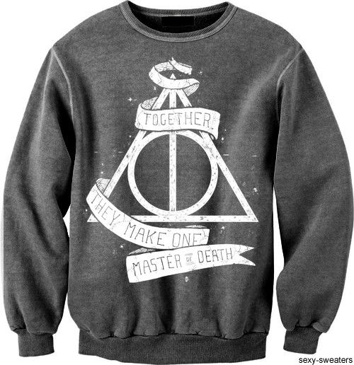 I seriously just need this so much.: Hp Sweatshirt, Hallows Sweatshirt, Harry Potter Sweatshirts, Dream Closet, Harrypotter, Harry Potter Sweater, Potter Harry, Sweatshirt Harry