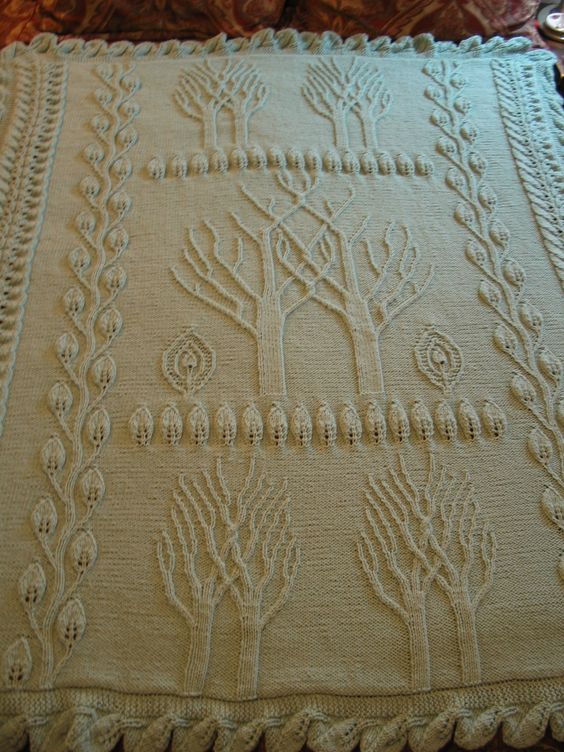 Tree Of Life Knitting Pattern Afghan : Tree of life, Of life and Afghans on Pinterest