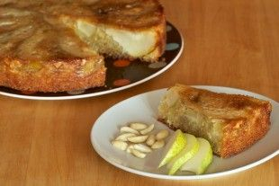 Magdalenka.cz »Recipe» Inverted pear tart with almonds