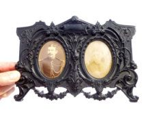 Antique Napoleon III gutta-percha from the 19th photo frame - frame photo holder…
