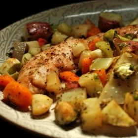 Quick and healthy crock pot chicken & potatoes. Celebrate Potato Lover's Month this February!