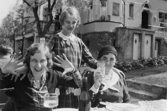 Außengastronomie, wohl Saarland frühe 1930er