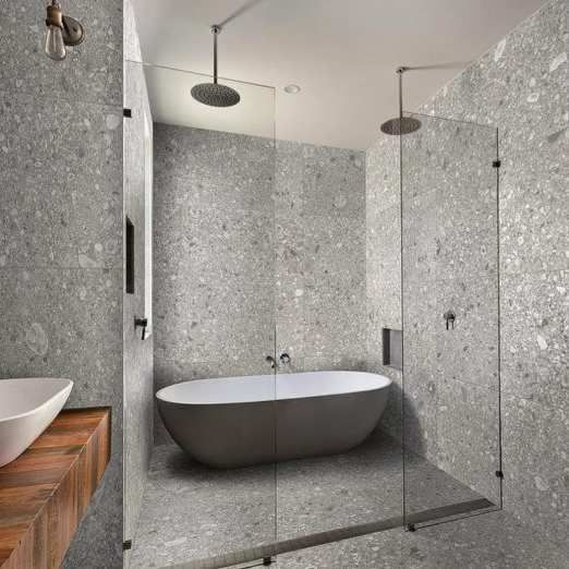Contemporary Bathroom Design Tiles Spanish Glazed Porcelain Tile Replicating Ceppo Di Gre S Best Bathroom Tiles Italian Bathroom Design Bathroom Design Layout