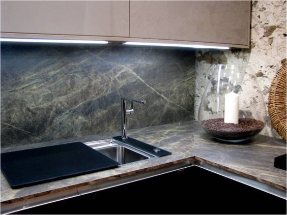 Slate sequoia formica laminate backsplash kitchen for Laminate countertops and backsplash ideas
