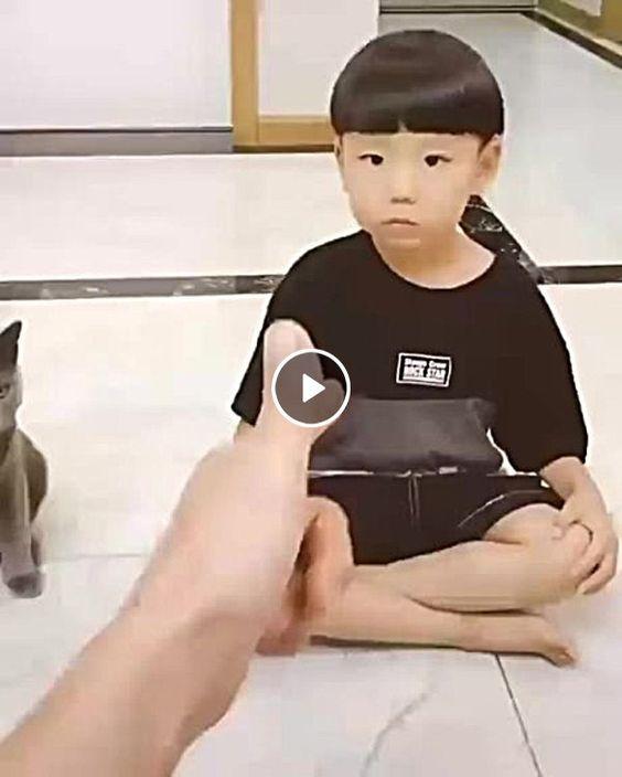 Muito legal ,criança e gatinho esperto.