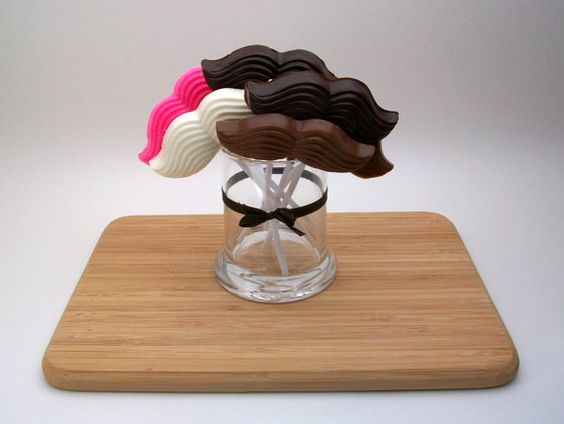 ASSORTED COLORS All Natural Chocolate Mustaches 8 by estheraguirre, $14.75