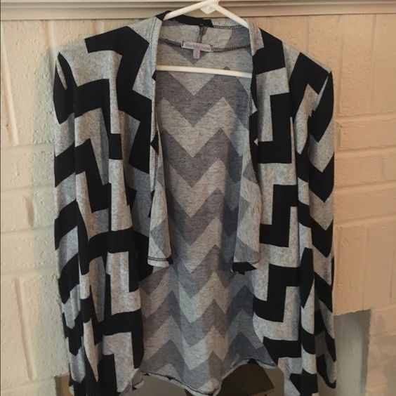 Cardigan Black and gray light weight cardigan . Charlotte Russe Sweaters Cardigans