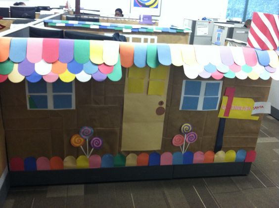 Cubicles and gingerbread on pinterest Cubicle bulletin board ideas