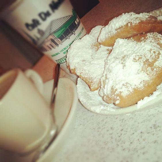 beignets at Cafe du Monde--NOLA