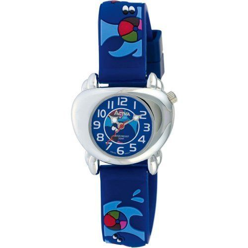 Activa By Invicta Kids' SV637-004 Dolphin Design Watch Activa By Invicta. $10.99. Precise Swiss-Quartz movement. Case diameter: 32 mm. Mineral crystal. Stainless-steel case; Blue dial. Water-resistant to 99 feet (30 M)