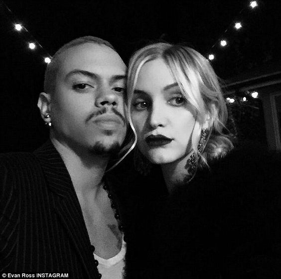 Artsy shot: Evan Ross meanwhile shared a snap of himself and Ashlee Simpson