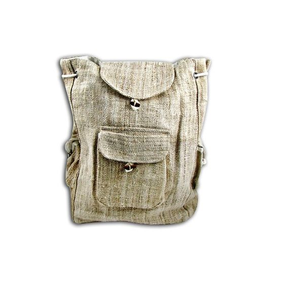 Omg yes. I want this hemp-canvas backpack for school and life.