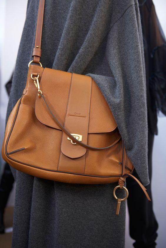 chloe pleated leather satchel