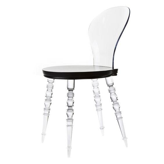 Babel Chair Wood Transparent//