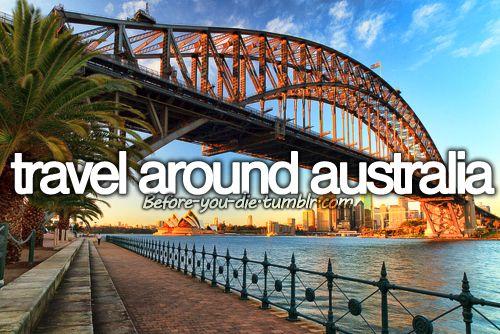 Travel around Australia- I absolutely love the idea of Australia &…