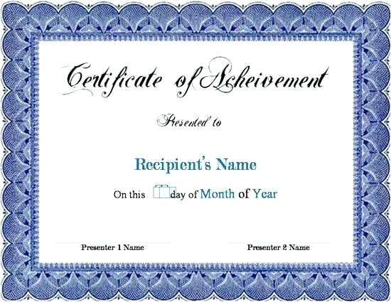 Certificate Of Appreciation Template Simple Recognition Free